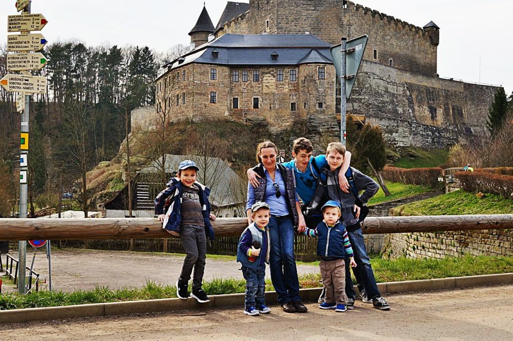 Анастасия Ольшевская с семьей
