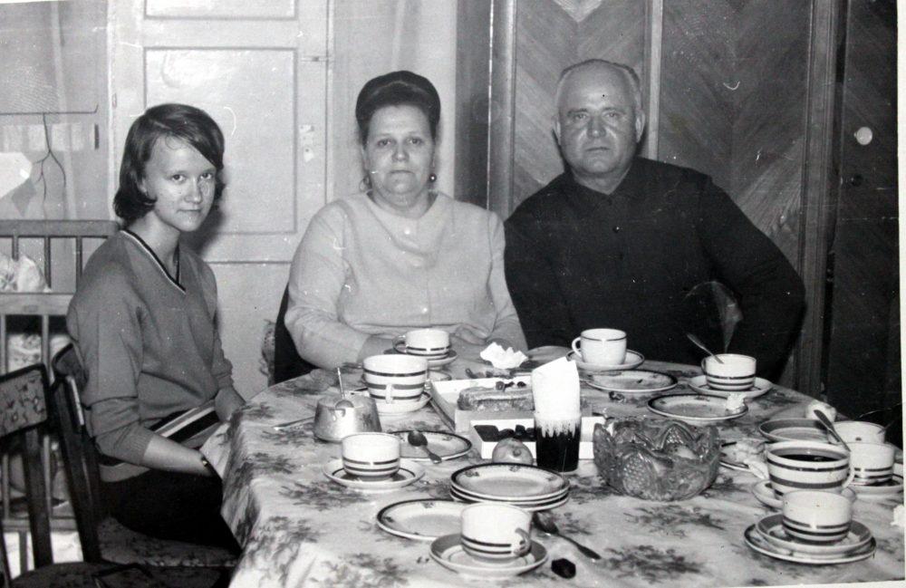 Людмила Шилина с родителями