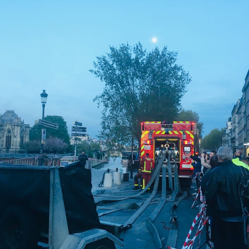 Notre Dame de Paris after fire
